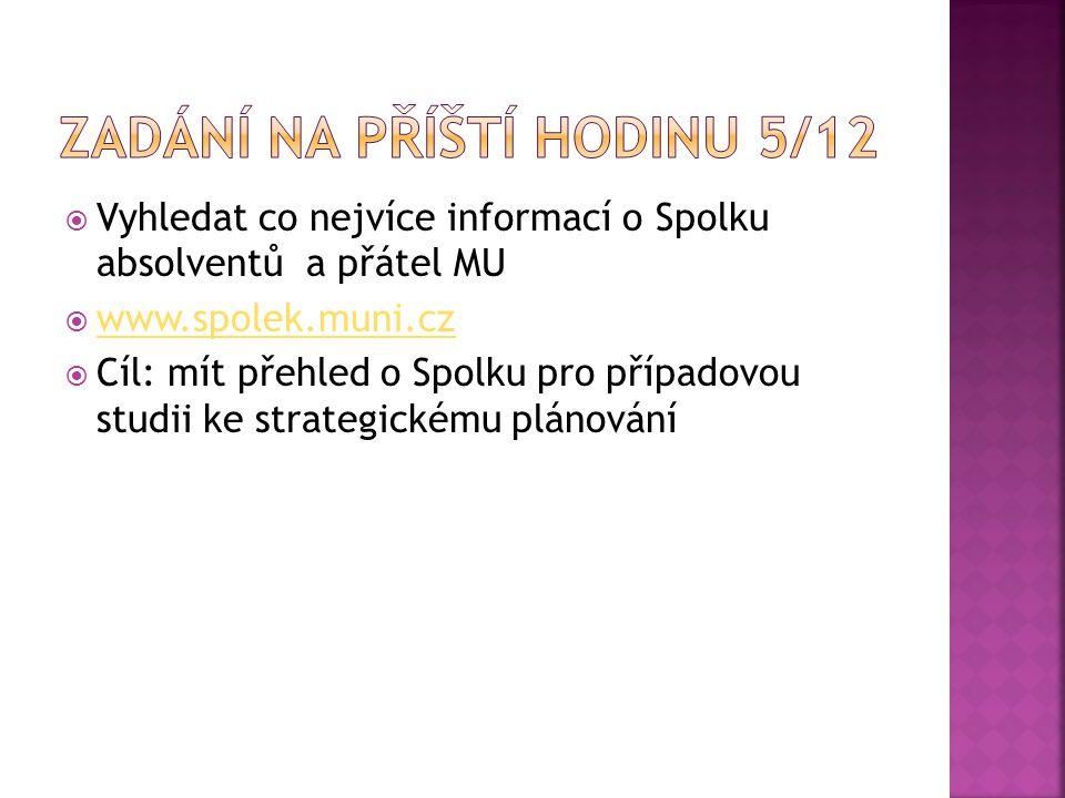 Zadání na příští hodinu 5/12