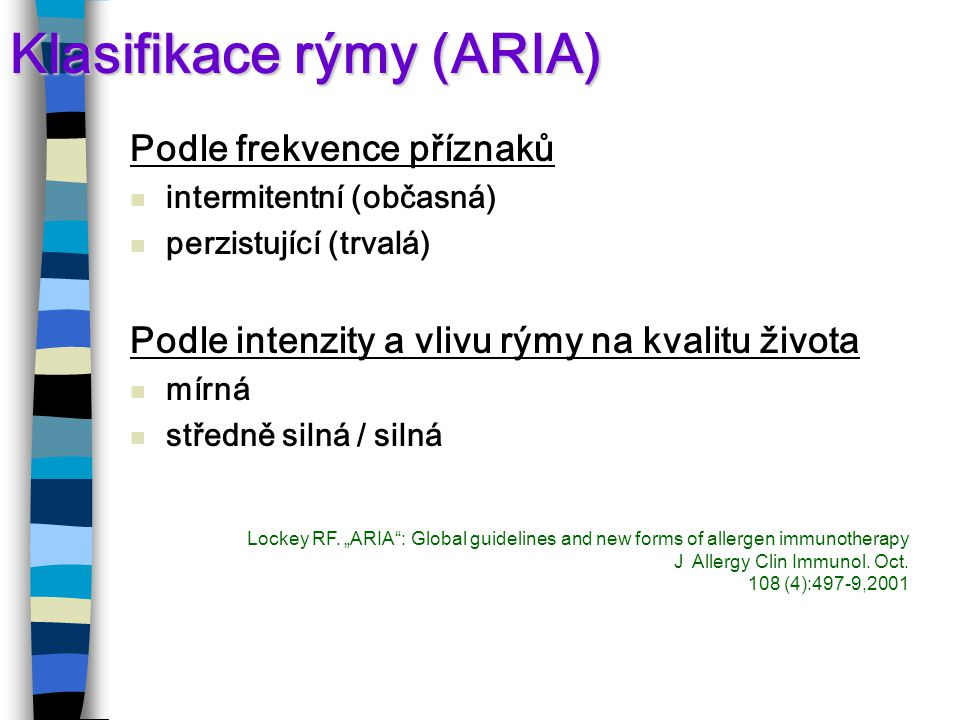 Klasifikace rýmy (ARIA)