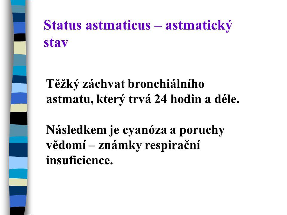 Status astmaticus – astmatický stav
