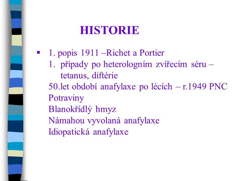 HISTORIE 1. popis 1911 –Richet a Portier