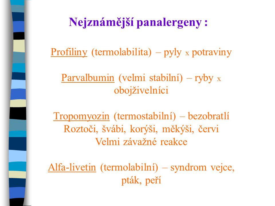Nejznámější panalergeny :