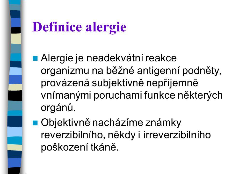 Definice alergie