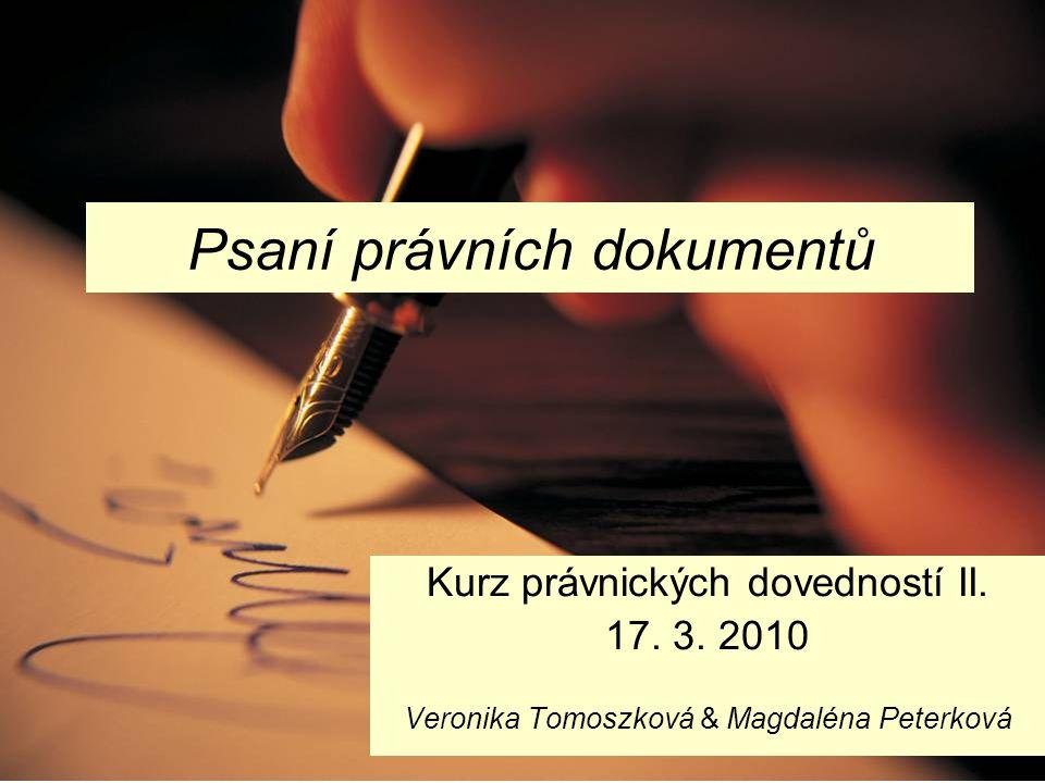 Psaní právních dokumentů
