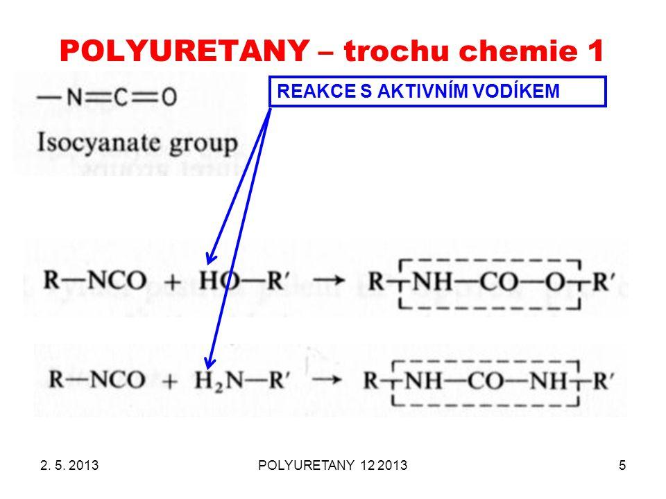 POLYURETANY – trochu chemie 1