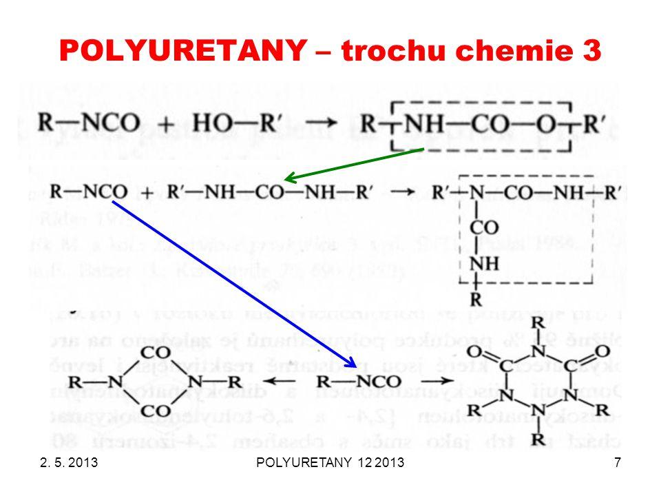 POLYURETANY – trochu chemie 3