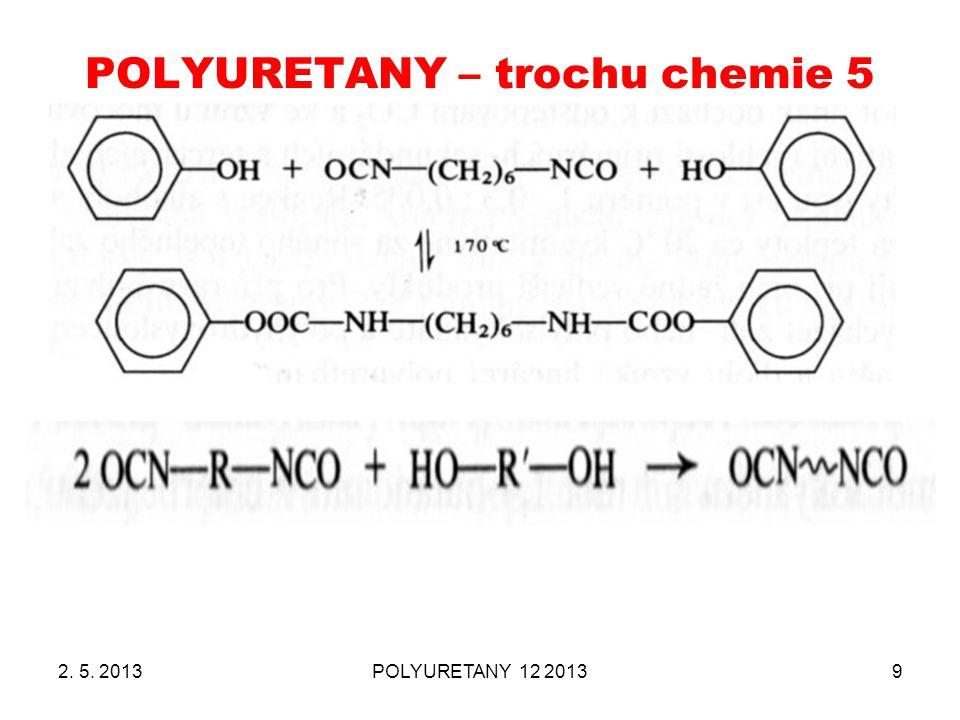 POLYURETANY – trochu chemie 5