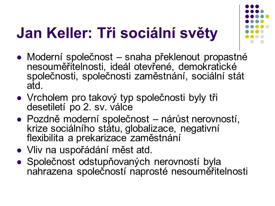 Jan Keller: Tři sociální světy