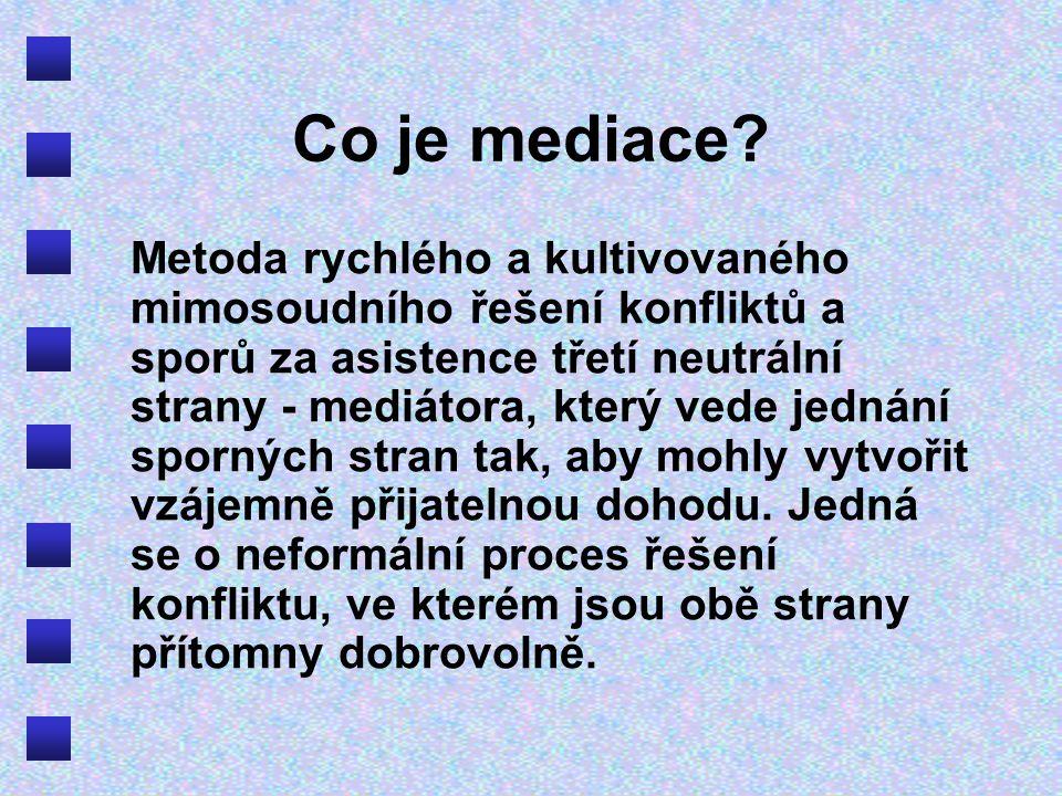 Co je mediace