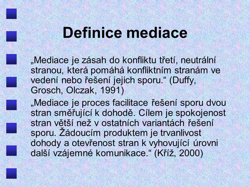 Definice mediace