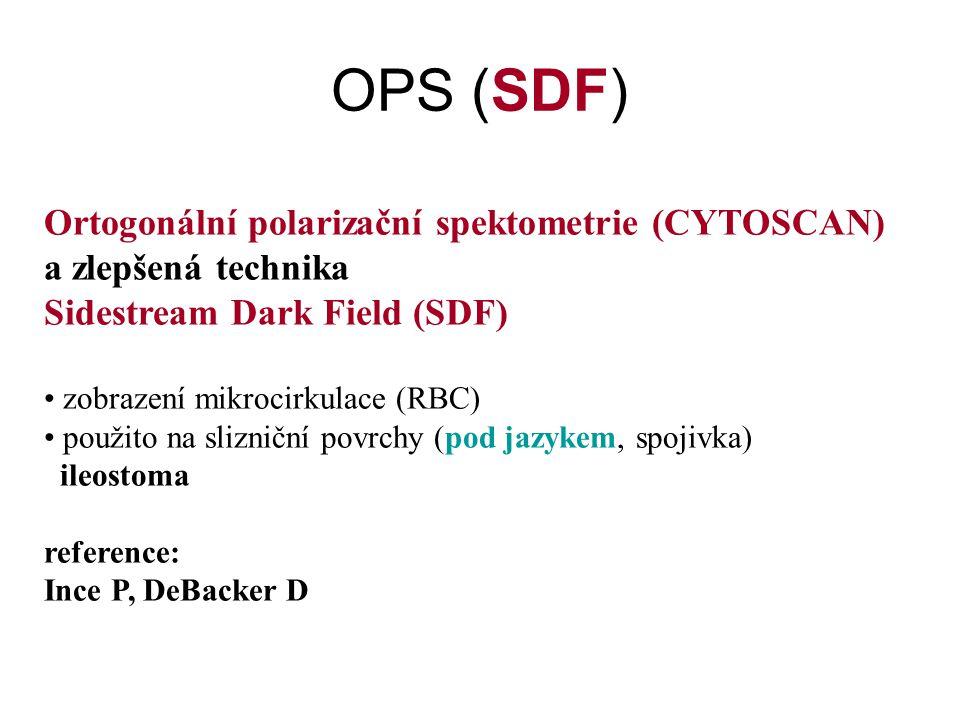 OPS (SDF) Ortogonální polarizační spektometrie (CYTOSCAN)