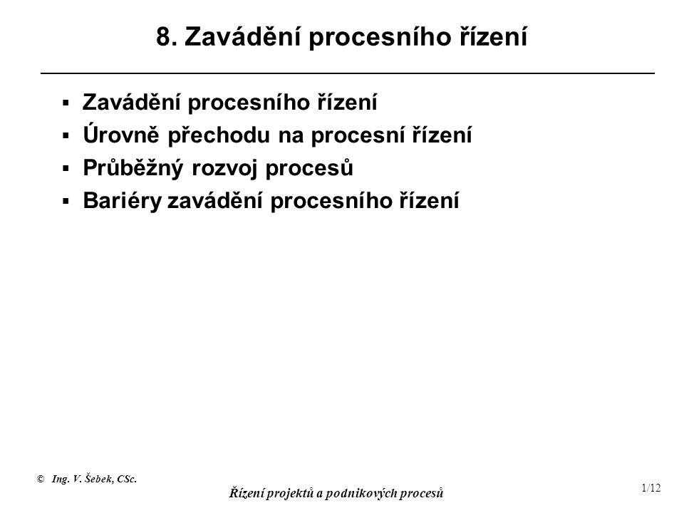 8. Zavádění procesního řízení