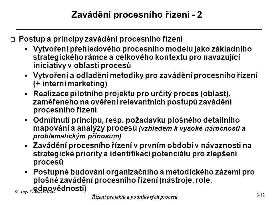 Zavádění procesního řízení - 2
