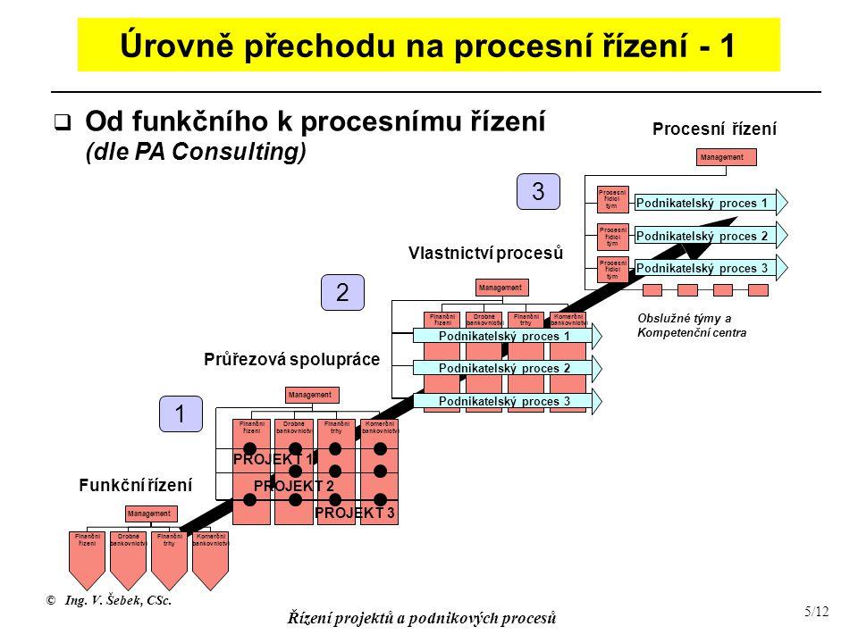 Úrovně přechodu na procesní řízení - 1