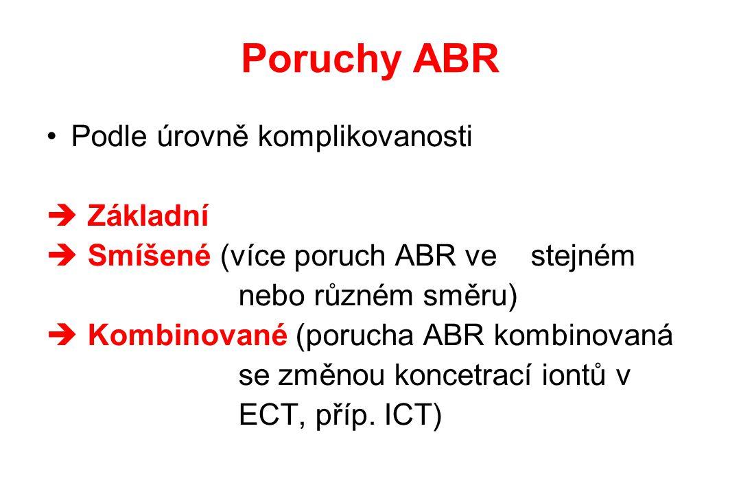 Poruchy ABR Podle úrovně komplikovanosti Základní