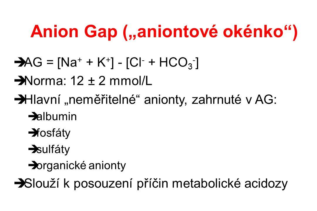 """Anion Gap (""""aniontové okénko )"""