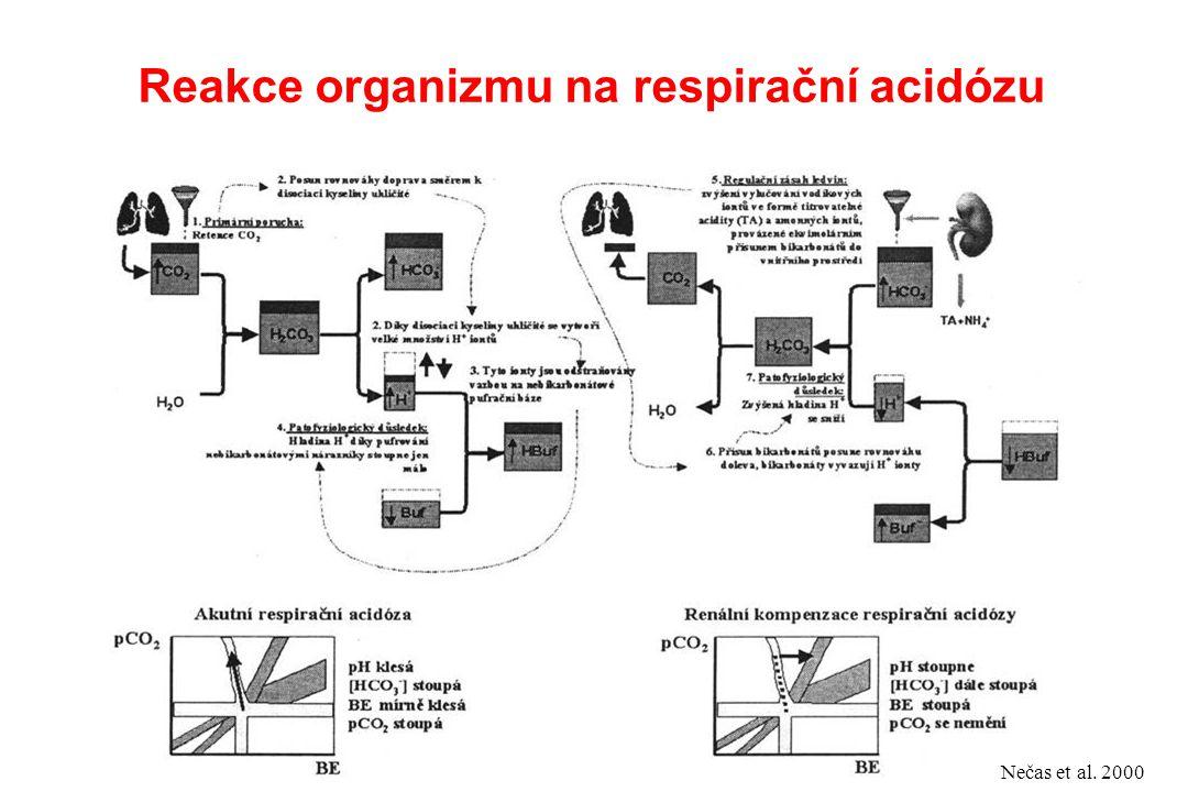 Reakce organizmu na respirační acidózu