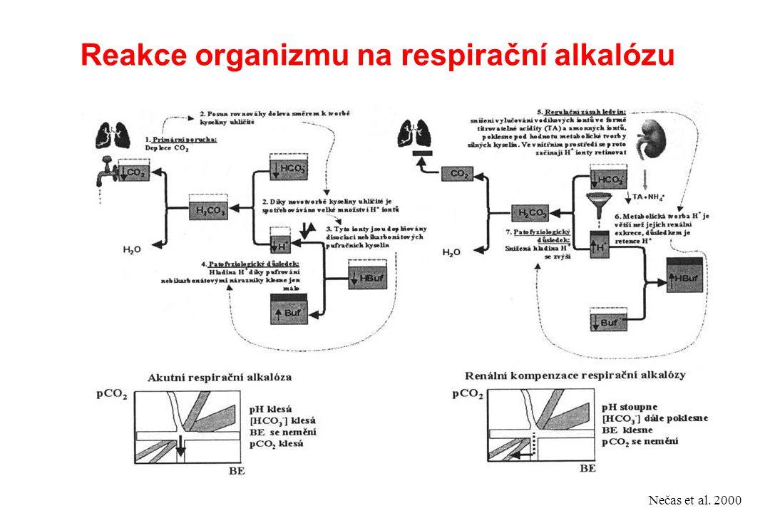 Reakce organizmu na respirační alkalózu