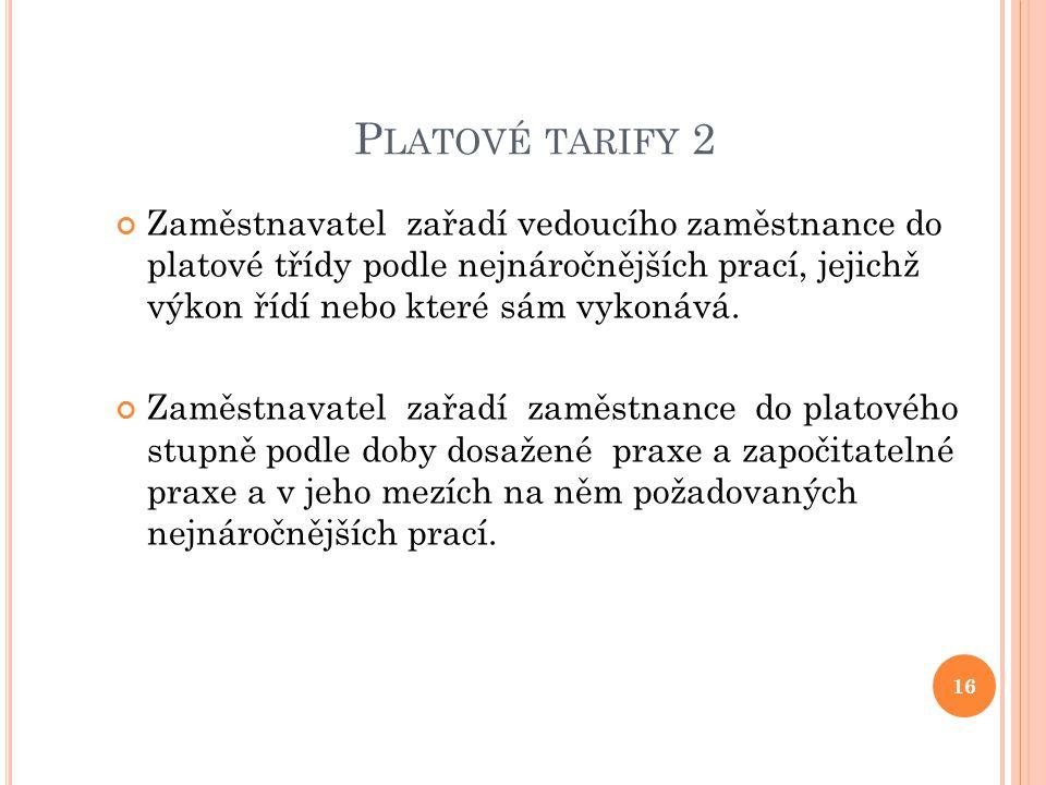 Platové tarify 2