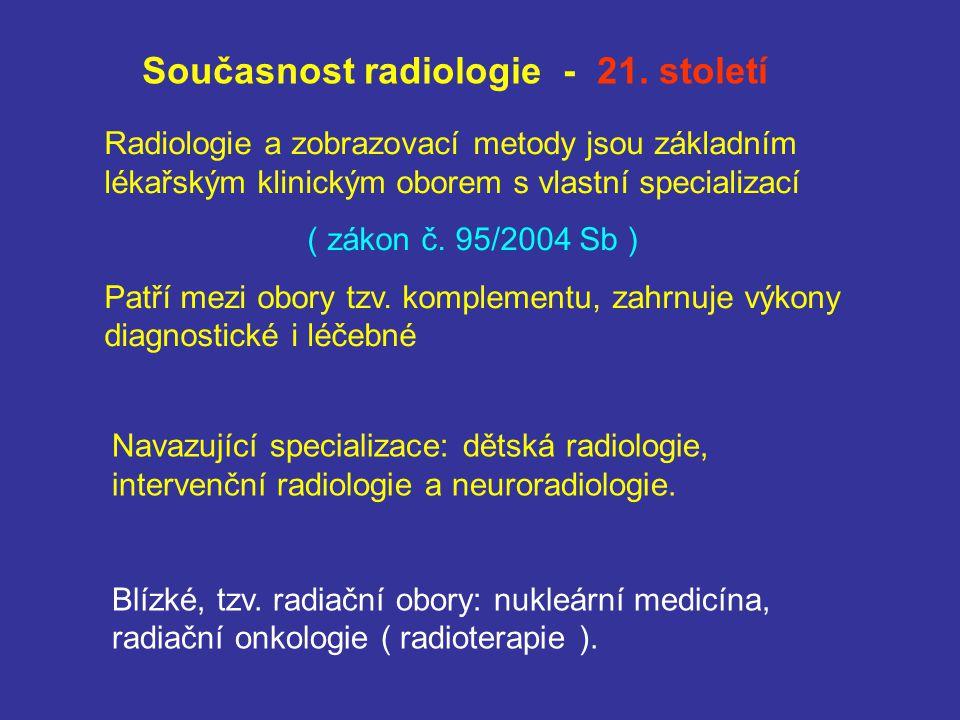 Současnost radiologie - 21. století