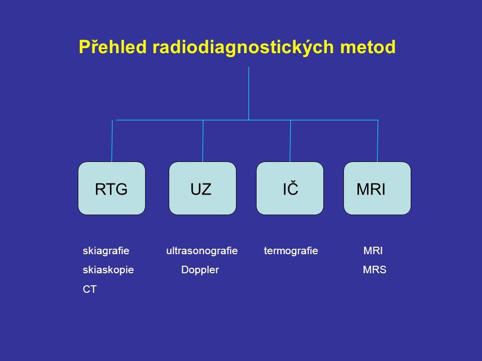Přehled radiodiagnostických metod