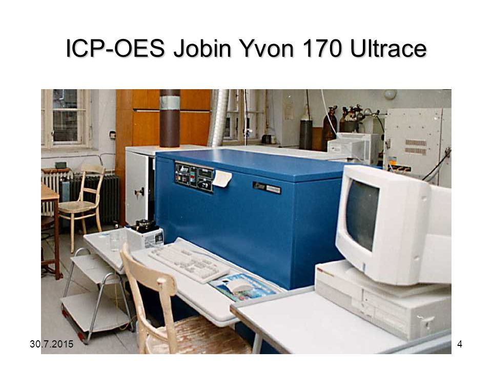 ICP-OES Jobin Yvon 170 Ultrace