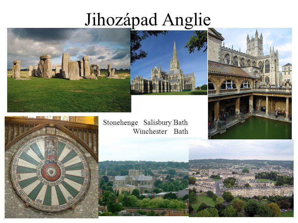 Jihozápad Anglie Stonehenge Salisbury Bath Winchester Bath