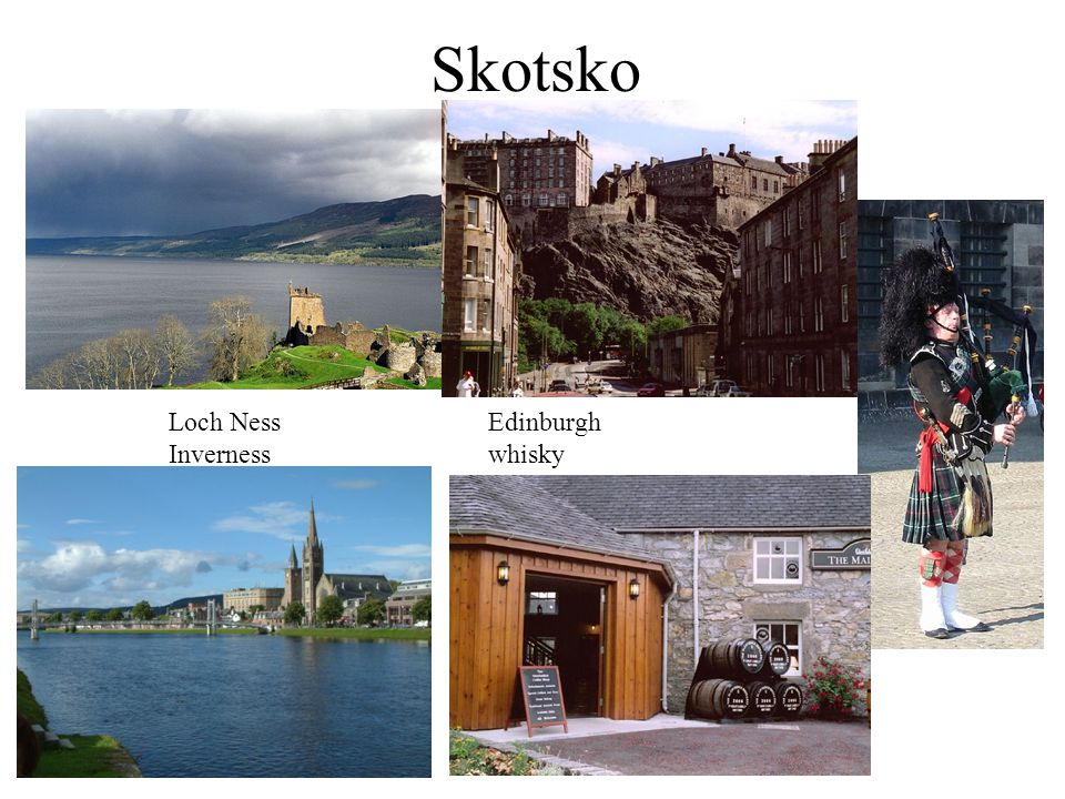Skotsko Loch Ness Edinburgh Inverness whisky