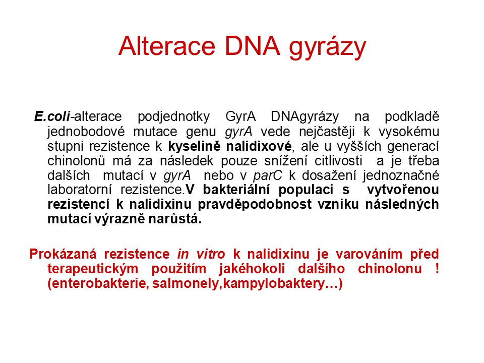 Alterace DNA gyrázy