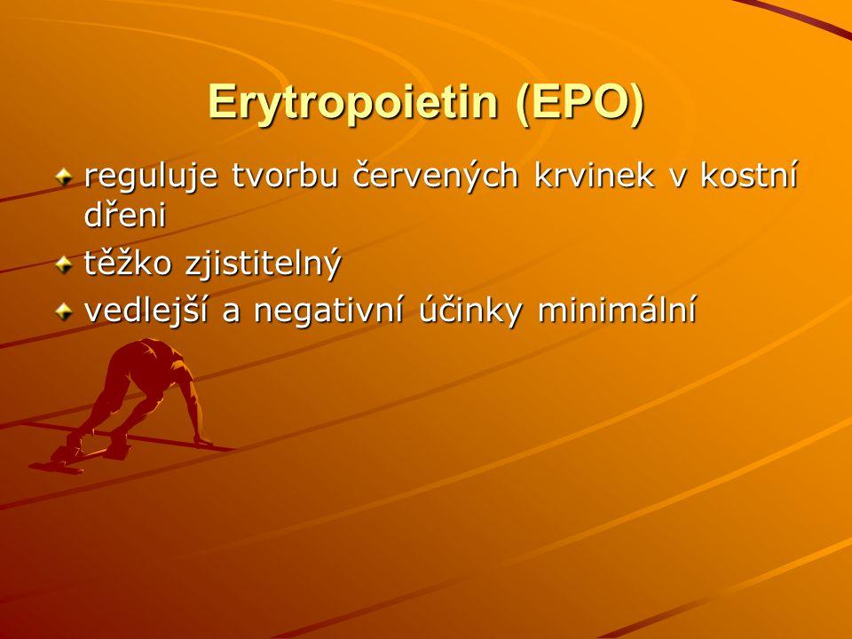 Erytropoietin (EPO) reguluje tvorbu červených krvinek v kostní dřeni