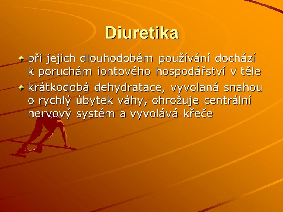 Diuretika při jejich dlouhodobém používání dochází k poruchám iontového hospodářství v těle.