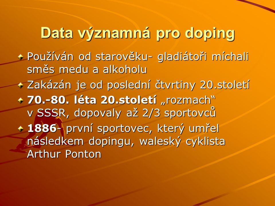 Data významná pro doping
