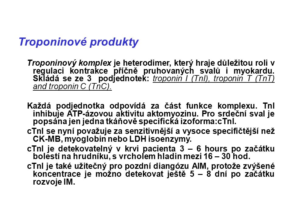 Troponinové produkty