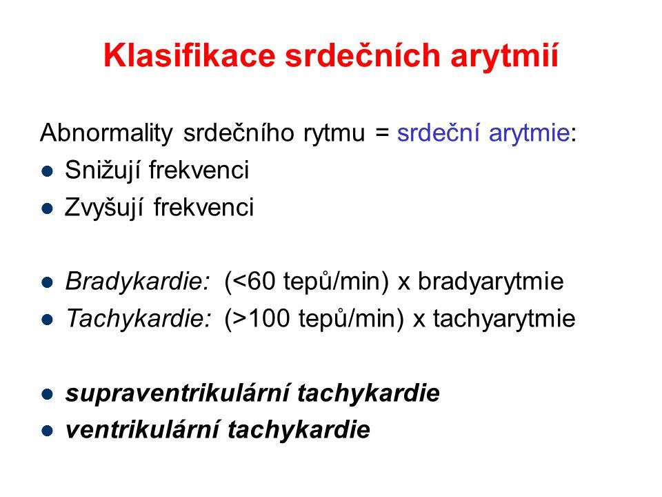 Klasifikace srdečních arytmií