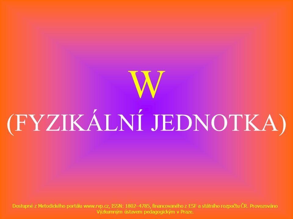 W (FYZIKÁLNÍ JEDNOTKA)