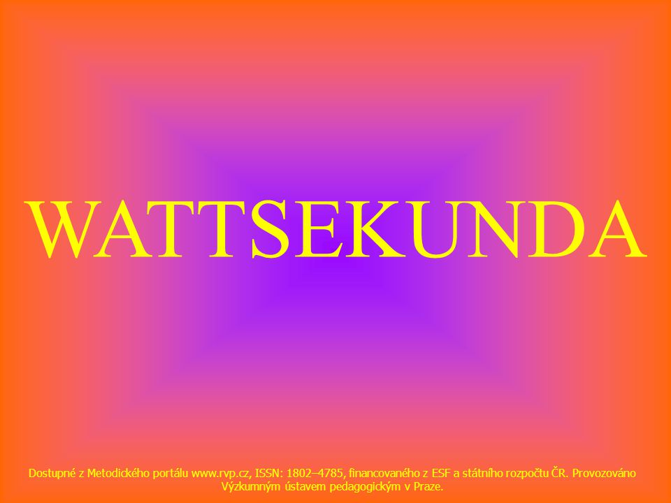 WATTSEKUNDA
