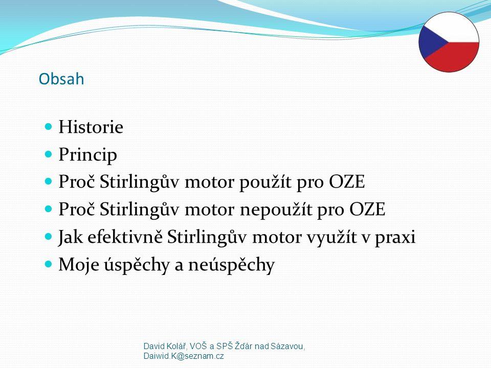 Proč Stirlingův motor použít pro OZE