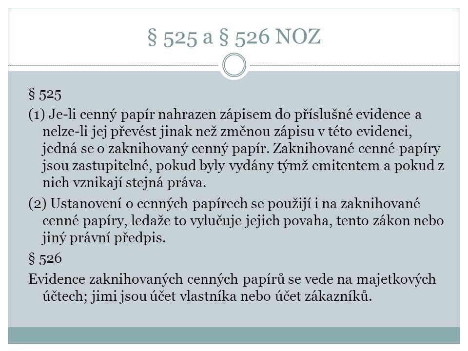 § 525 a § 526 NOZ