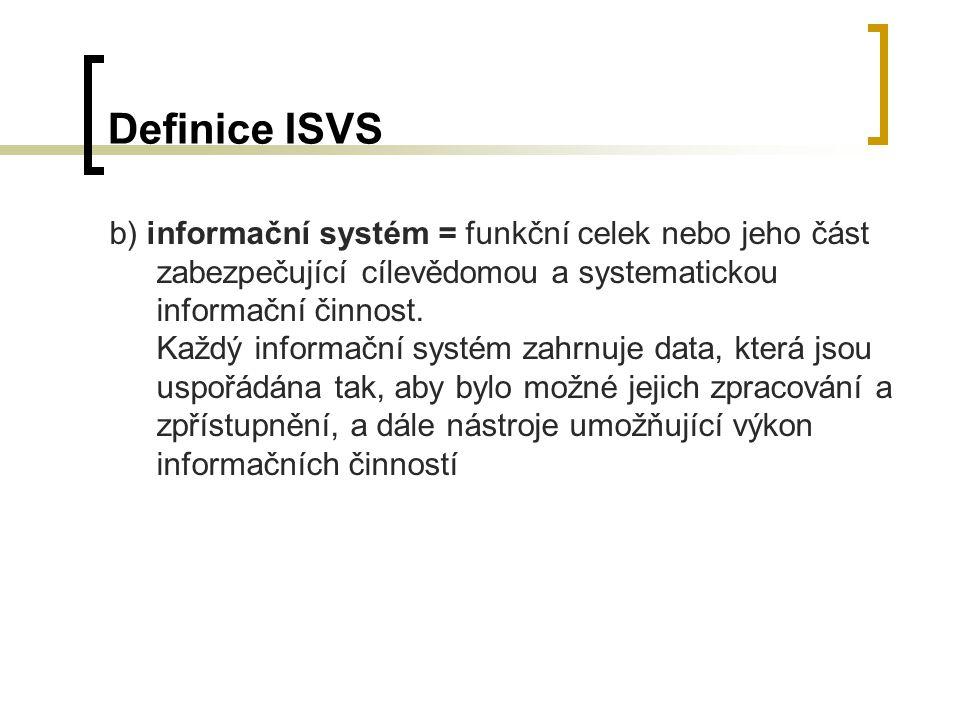 Definice ISVS