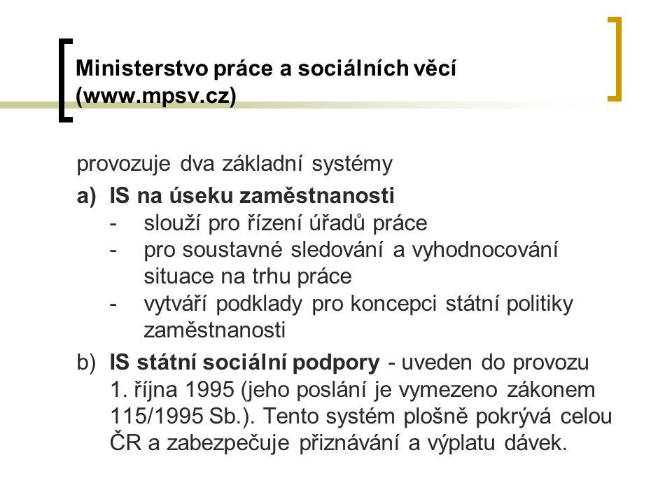 Ministerstvo práce a sociálních věcí (www.mpsv.cz)