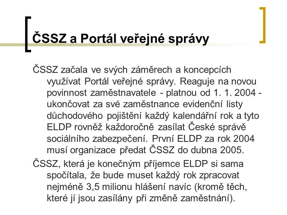 ČSSZ a Portál veřejné správy