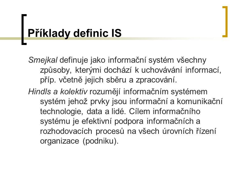 Příklady definic IS
