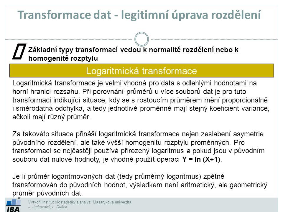 Transformace dat - legitimní úprava rozdělení