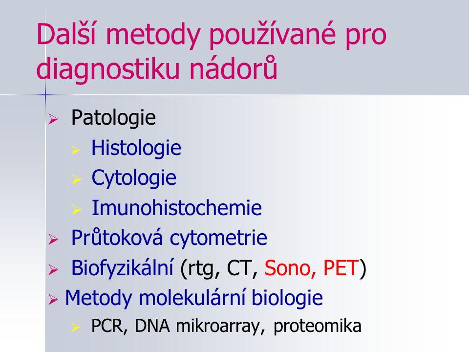 Další metody používané pro diagnostiku nádorů
