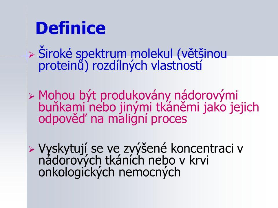 Definice Široké spektrum molekul (většinou proteinů) rozdílných vlastností.