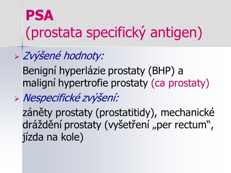 PSA (prostata specifický antigen)
