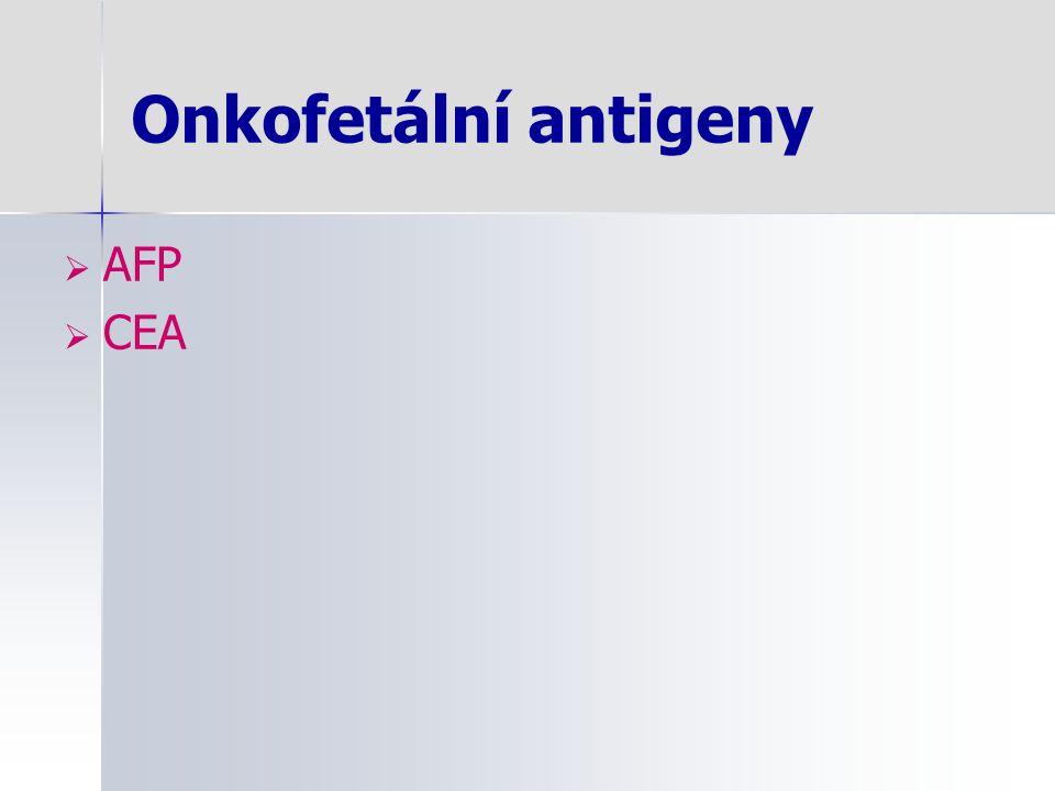 Onkofetální antigeny AFP CEA