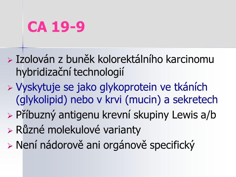 CA 19-9 Izolován z buněk kolorektálního karcinomu hybridizační technologií.
