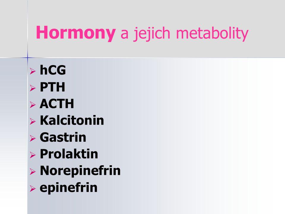 Hormony a jejich metabolity