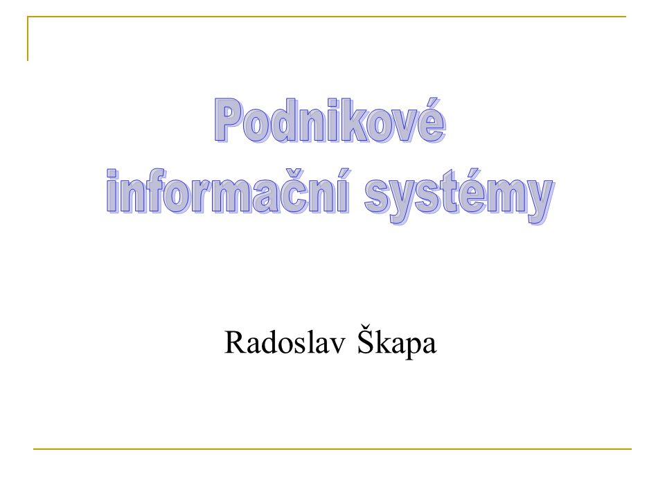 Podnikové informační systémy Radoslav Škapa