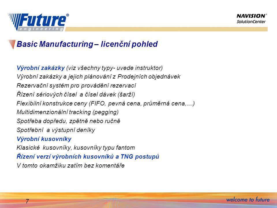 Basic Manufacturing – licenční pohled